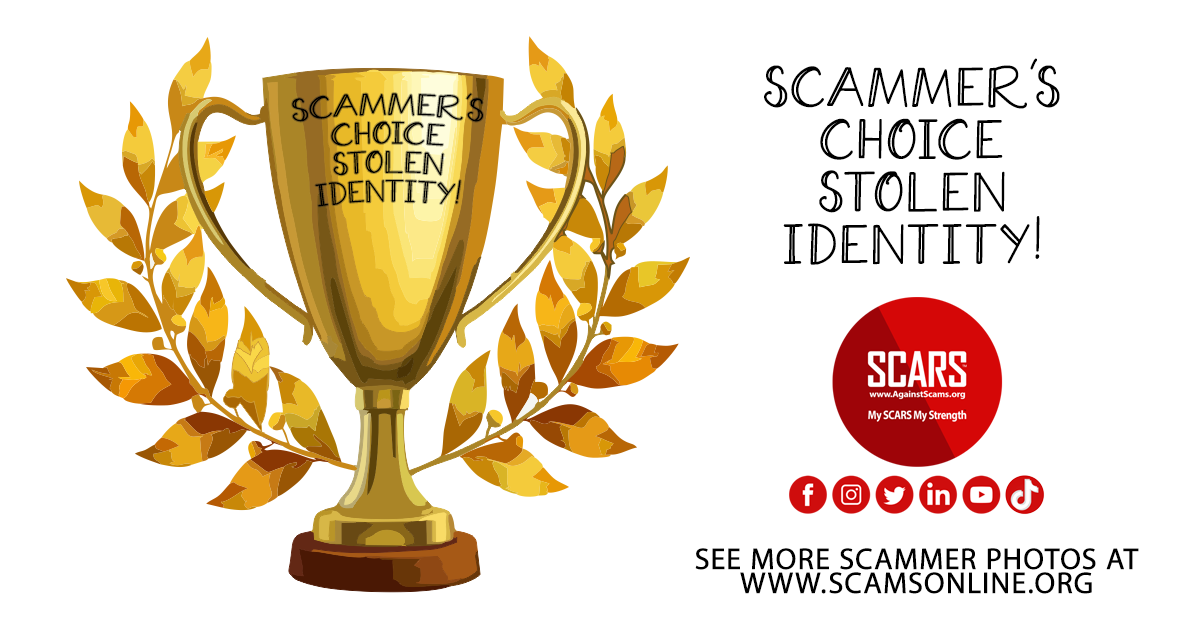 Dating Scammers Choice Award Winner