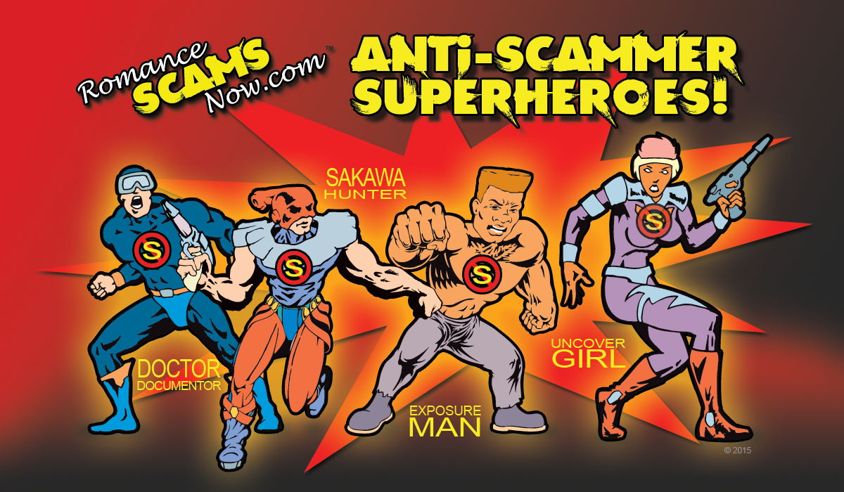 Anti-Scammer Superheroes of Romance Scams Now!
