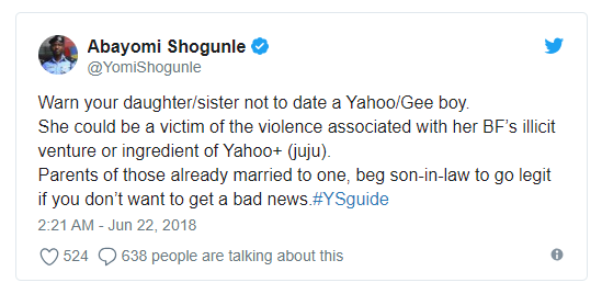 METRO Warn Your Daughters Against Dating 'Yahoo Boys' – Senior Policeman Tells Parents