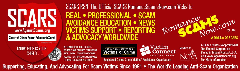 SCARS|RSN Romance Scams Now Logo