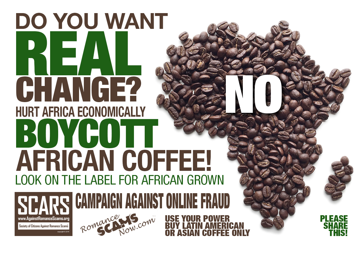 If You Want Change We First Must Get Their Attention - Let's Start By Boycotting Everything African!