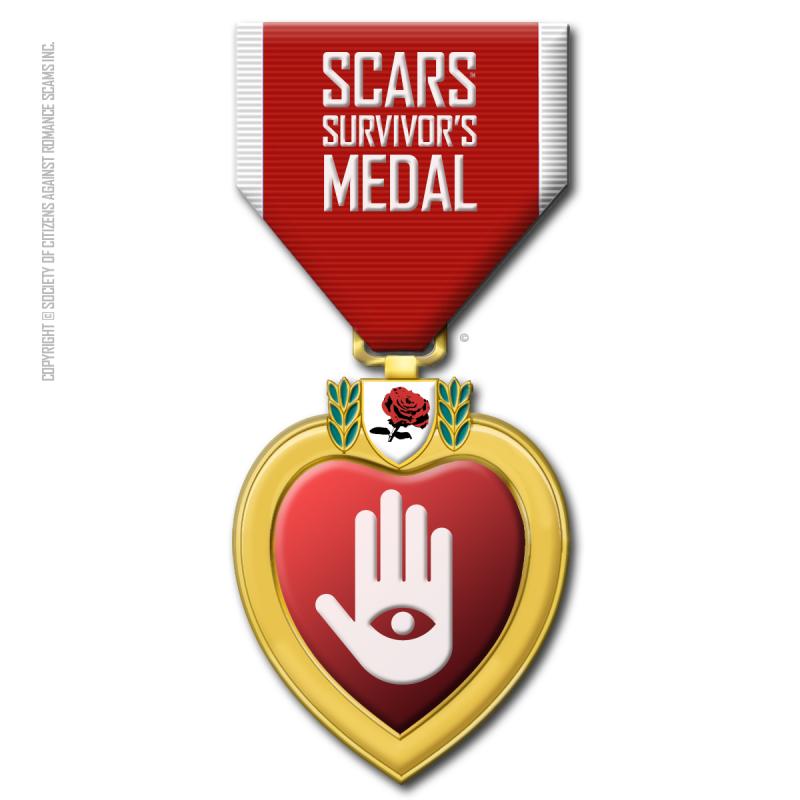 SCARS' Scam Survivor's Medal